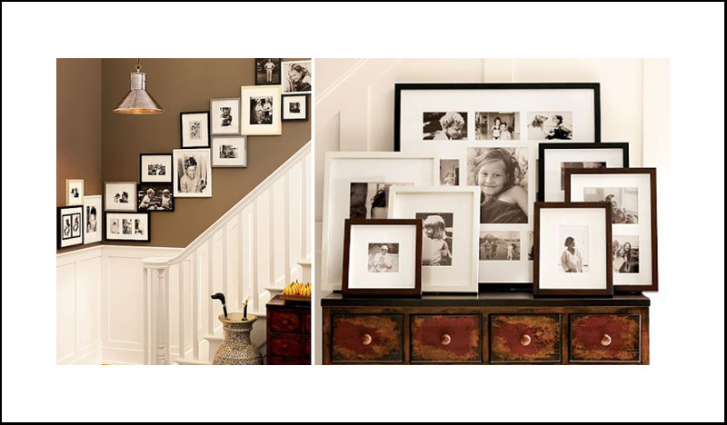 Gallery Wall Planner family gallery wall display and tabletop grouping | darien, ct